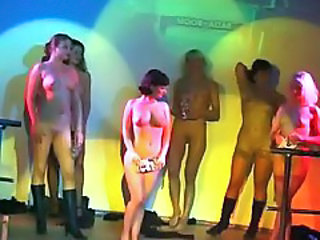 Dancing Nudist Party Public