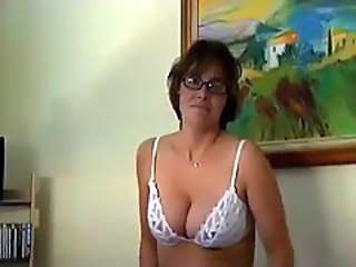 Amateur Glasses Lingerie Mature Natural