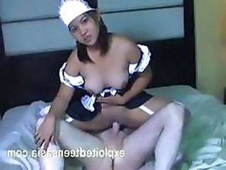 Asian Maid Riding Teen Uniform
