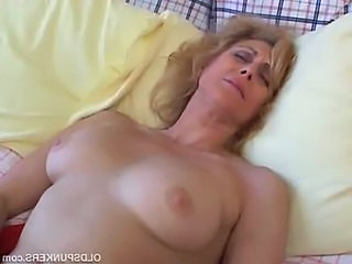 Blonde Mature Sleeping