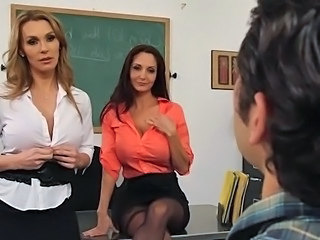 Amazing Big Tits MILF Stripper Teacher