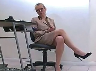 Glasses Mature Secretary
