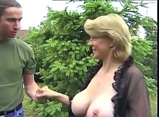Big Tits MILF Natural Old and Young Outdoor
