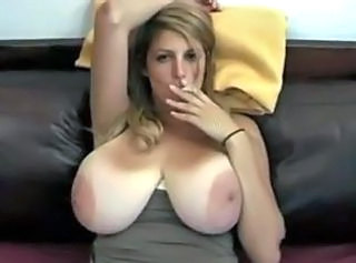Big Tits MILF Natural SaggyTits Smoking