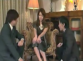 Asian Cash Japanese MILF Threesome