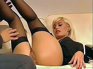 Amazing Ass Blonde MILF Stockings