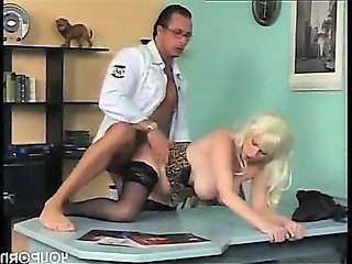 Blonde Doggystyle MILF Office Stockings