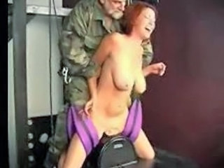 Army Big Tits Daddy Forced Machine MILF Natural