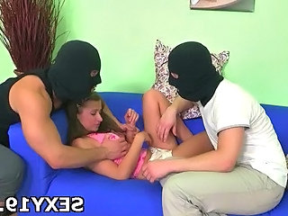 Fetish Forced Hardcore Teen Threesome