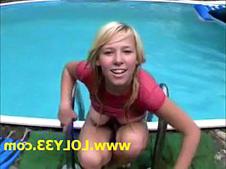 Blonde Pool Teen Young