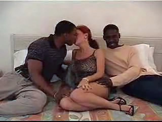 Interracial Mature Threesome Wife