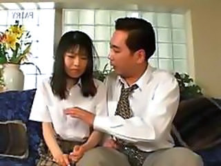 Asian Daddy Daughter Korean Old and Young Small cock Teacher Teen