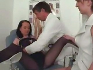 Doctor German Pantyhose Threesome