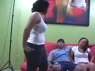 Amateur Ebony Teen Threesome