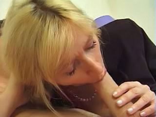 Blonde Blowjob European French Mature