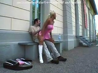 Clothed German Hardcore Outdoor Public Riding