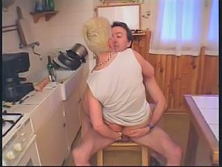 Kitchen Mature Older Riding