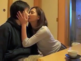 Asian Japanese Kissing MILF Mom Old and Young