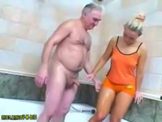 Bathroom Daddy Daughter Old and Young