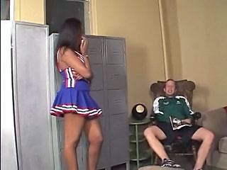 Cheerleader Ebony Interracial Teen Uniform