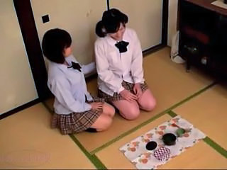 Asian Lesbian School Skirt Teen Uniform