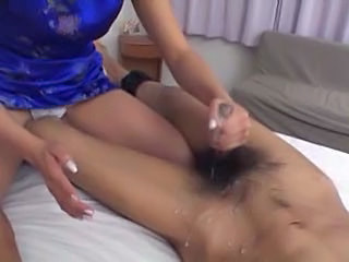 Asian Cumshot Handjob