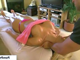 Amazing Big Tits Massage MILF Oiled Pornstar Silicone Tits