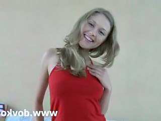 Blonde Cute Flexible Teen