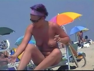 Beach Nudist Outdoor Piercing Smoking Teen Voyeur