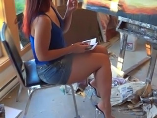 Chubby Legs Smoking Teen