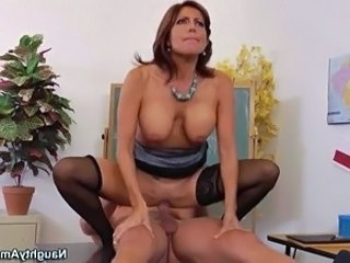 Big Tits Mature Riding Stockings Teacher