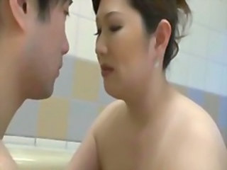 Asian Bathroom Bus Mom Older