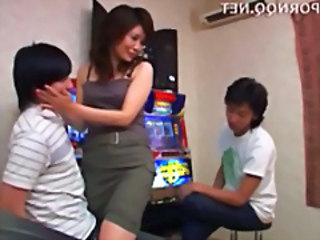 Asian Japanese Mom Older Threesome