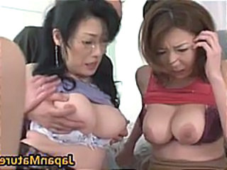 Asian Glasses Japanese Mature Natural Nipples Threesome