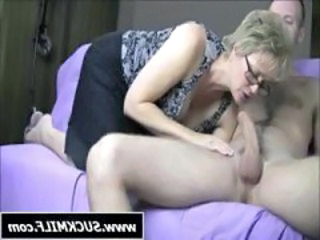 Blonde Blowjob CFNM Granny