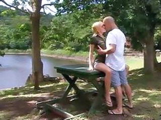 Erotic Kissing Outdoor Teen
