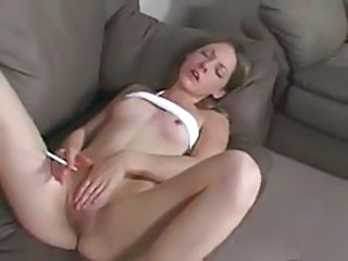 Masturbating Skinny Smoking Teen