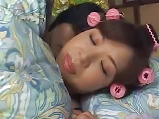 Asian Mom Sleeping