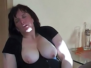 Amateur BBW Mature Mom Natural Piercing SaggyTits