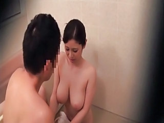 Asian Big Tits Mom Natural Voyeur