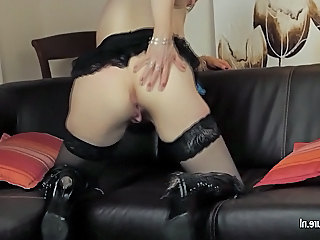 Ass European Mature Mom Stockings