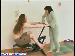 Amateur Brunette Mature Mom Old and Young Russian Sport