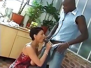 Blowjob French Interracial MILF