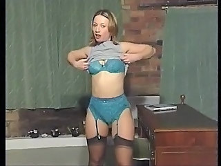 British European Lingerie MILF Solo Stockings Stripper