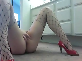 Fishnet Masturbating Orgasm Solo Webcam