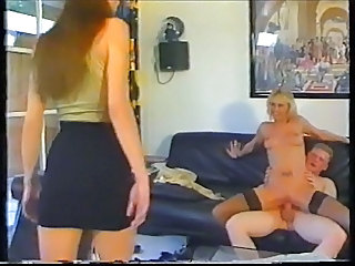 Daughter Family Mom Old and Young Riding Teen Threesome