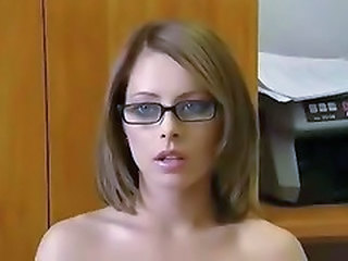 Amateur Amazing Cute Glasses Homemade Teen