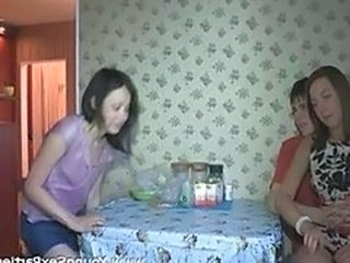 Amateur Homemade Kitchen Teen Threesome