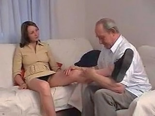 Daddy Daughter Legs Old and Young Russian Teen