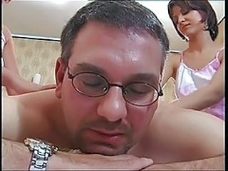 Daddy Daughter European Family Italian Old and Young Threesome